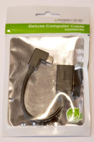 Ugreen Micro USB OTG Adapter 90 Grad abgewinkelt